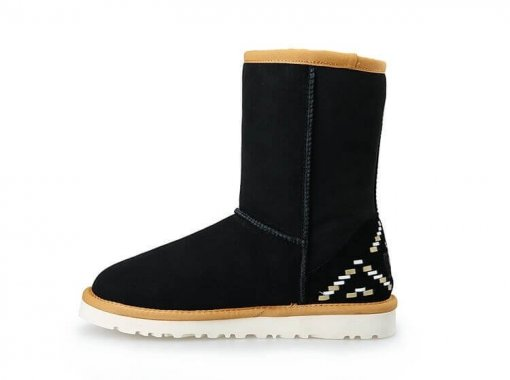 "UGG CLASSIC SHORT II BOOT ""BLACK ORNAMENT""  3"