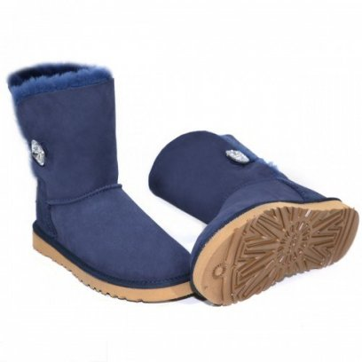 "UGG BAILEY BUTTON II BLING BOOT ""NAVY"" 1"