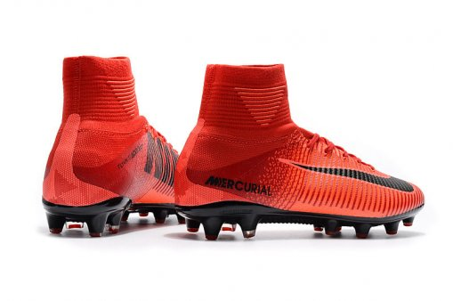 "Футбольные бутсы Nike Mercurial Superfly V AG-Pro ""Bright Crimson/White/University Red"" 7"