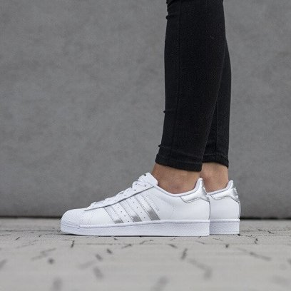 "Кроссовки Adidas Superstar ""White Silver"" 1"