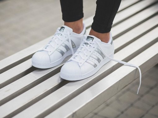 "Кроссовки Adidas Superstar ""White Silver"" 7"