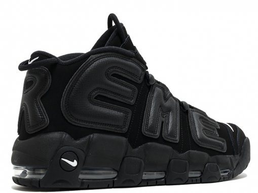 "Кроссовки Nike Air More Uptempo ""Triple Black"" 2"