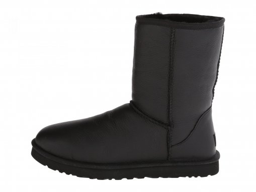 "UGG CLASSIC SHORT LEATHER BOOT ""BLACK"" 1"