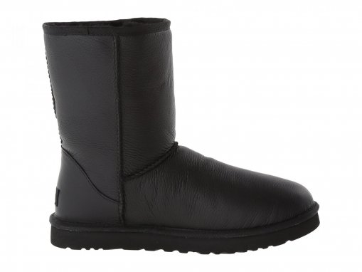 "UGG CLASSIC SHORT LEATHER BOOT ""BLACK"" 2"