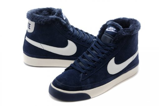 "Кроссовки Nike Dunk Hight ""Navy"" С МЕХОМ 3"