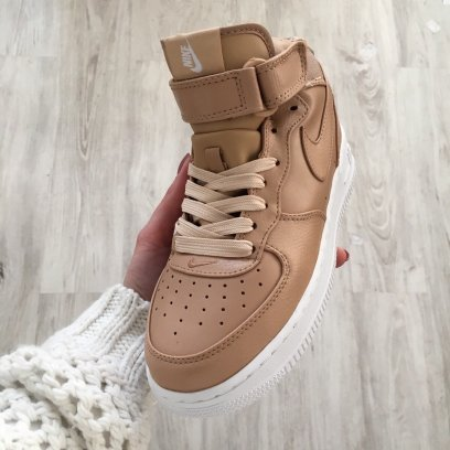 "Кроссовки NikeLab Air Force 1 Mid ""Vachetta Tan/White"" 2"